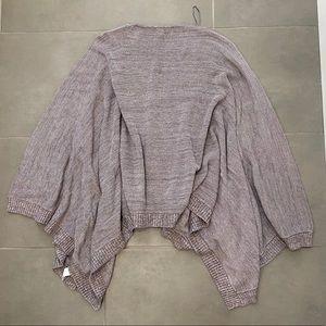 Lululemon Divinity Purple Knit Cape Scarf Sweater